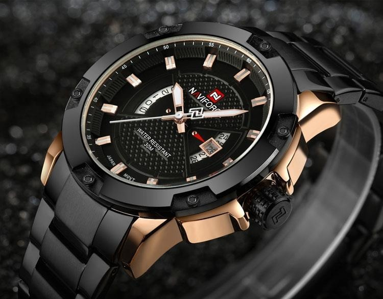 NAVIFORCE - MERCURY (zn038d) - black/rosegold