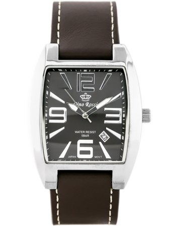 ZEGAREK GINO ROSSI - NOBLE (zg045a) brown/silver + BOX