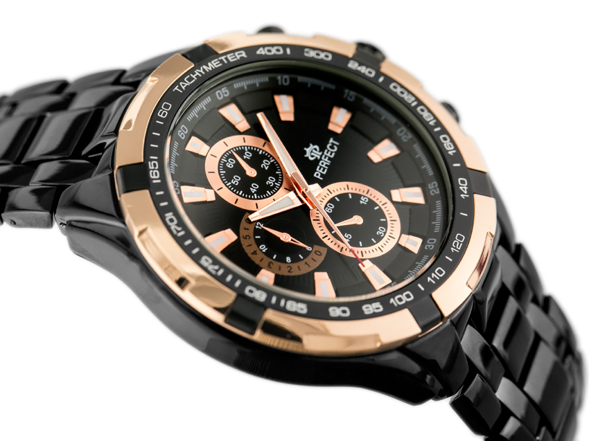 PERFECT - MILTON - black/gold (zp112b)